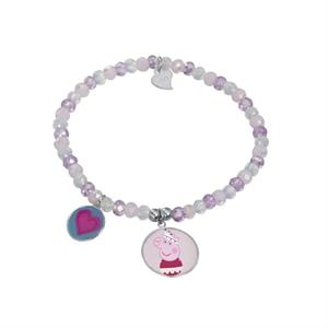 PULSERA PEPPA PIG  PLATA 925 RODIADA HAPPY TIME