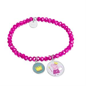 PULSERA PEPPA PIG® PLATA 925 RODIADA PRINCESS DREAM