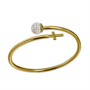 PULSERA LUXURY RECUBIERTA DE ORO 18 KILATES CRUZ